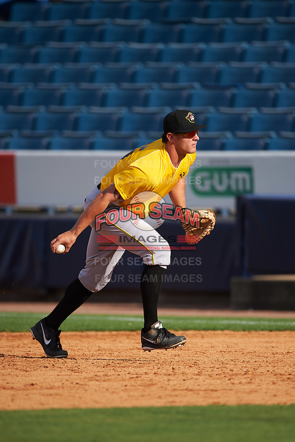 Bradenton Marauders first baseman Jerrick Suiter (25) during practice before a game against the Tampa Yankees on April 11, 2016 at George M. Steinbrenner Field in Tampa, Florida.  Tampa defeated Bradenton 5-2.  (Mike Janes/Four Seam Images)