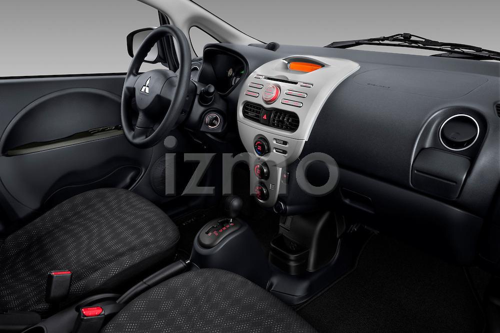 Passenger dashboard view of a 2012 Mitsubishi MiEV ES.