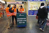 - Trenitalia, customer care point in Milan Central Station....- Trenitalia, punto di assistenza clienti alla Stazione Centrale di Milano