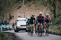 the day's breakaway, here led by Alex KIRSCH (LUX/Trek-Segafredo), up the Côte de Trieu / Knokteberg<br /> <br /> 71th Kuurne-Brussel-Kuurne 2019 <br /> Kuurne to Kuurne (BEL): 201km<br /> <br /> ©kramon