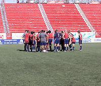 U17 Men's National Team practing at Estadio Caliente Stadium. 2009 CONCACAF Under-17 Championship From April 21-May 2 in Tijuana, Mexico