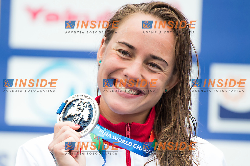 OLASZ Anna HUN silver medal<br /> Open Water - Women's  25km <br /> Day 09 01/08/2015<br /> XVI FINA World Championships Aquatics Swimming<br /> Kazan Tatarstan RUS July 24 - Aug. 9 2015 <br /> Photo Giorgio Perottino/Deepbluemedia/Insidefoto