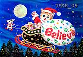 Kayomi, CHRISTMAS ANIMALS, paintings, USKH09,#XA# Weihnachten, Navidad, illustrations, pinturas