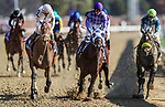 November 3, 2018: Audible #3, ridden by Javier Castellano, wins the 1st running of the Qatar Cherokee Run Stakes on Breeders' Cup World Championship Saturday at Churchill Downs on November 3, 2018 in Louisville, Kentucky. Carolyn Simancik/Eclipse Sportswire/CSM