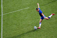Paolo Garbisi of Italy kicks the ball during the warm up of the rugby Autumn Nations Cup's match between Italy and Scotland at Stadio Artemio Franchi on November 14, 2020 in Florence, Italy. Photo Andrea Staccioli / Insidefoto