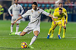 Cristiano Ronaldo of Real Madrid handles penalty kick during their La Liga match between Villarreal CF and Real Madrid at the Estadio de la Cerámica on 26 February 2017 in Villarreal, Spain. Photo by Maria Jose Segovia Carmona / Power Sport Images