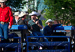 July 7, 2011 - Calgary, Alberta, Canada - Prince William watches from behind the pen at the Calgary Stampede grounds in front of BMO centre to watch a rodeo demonstration. Calgary is the last Canadian stop of the British Royal Tour. Photo by Jimmy Jeong / Rogue Collective