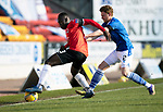 St Johnstone v Clyde…17.04.21   McDiarmid Park   Scottish Cup<br />Ewan Otoo and James Brown<br />Picture by Graeme Hart.<br />Copyright Perthshire Picture Agency<br />Tel: 01738 623350  Mobile: 07990 594431