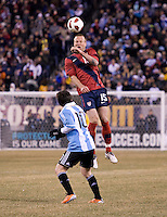 Jay DeMerit, Lionel Messi. The USMNT tied Argentina, 1-1, at the New Meadowlands Stadium in East Rutherford, NJ.