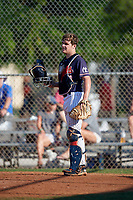 Luke Carroll (30) during the WWBA World Championship at Lee County Player Development Complex on October 9, 2020 in Fort Myers, Florida.  Luke Carroll, a resident of Peachtree Corners, Georgia who attends Wesleyan High School, is committed to Dartmouth.  (Mike Janes/Four Seam Images)