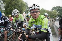 cx legend Sven Nys (BEL/Crelan-AAdrinks) at the start of the road championships<br /> <br /> Belgian Championships 2014 - Wielsbeke<br /> Elite Men