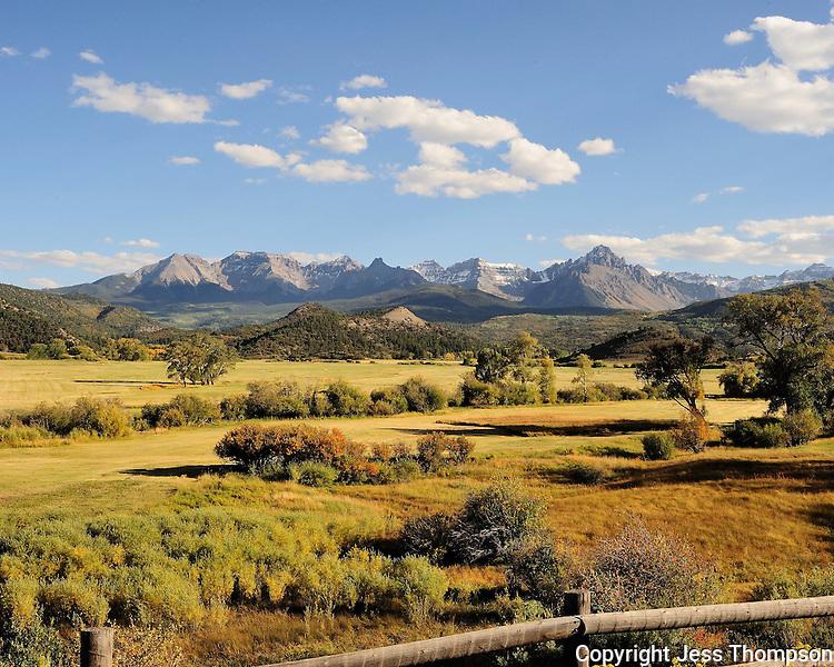 Fall colors in Colorado, near Telluride