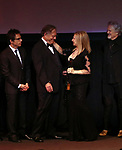 Ben Stiller, George Segal, Barbra Streisand and Kris Kristofferson during the Presentation for the 40th Annual Chaplin Award Gala Honoring Barbra Streisand at Avery Fisher Hall in New York City on 4/22/2013.