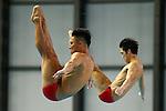 Ken Terauchi & Sho Sakai,<br /> SEPTEMBER 18, 2015 - Diving : <br /> All Japan Diving Championship 2015<br /> Men's Synchronised 3m Springboard Final<br /> at Tatsumi International Swimming Center, Tokyo, Japan.<br /> (Photo by Shingo Ito/AFLO SPORT)
