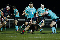 Phil Cringle of London Scottish during the Greene King IPA Championship match between London Scottish Football Club and Nottingham Rugby at Richmond Athletic Ground, Richmond, United Kingdom on 7 February 2020. Photo by Carlton Myrie.