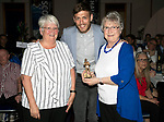St Johnstone FC Player of the Year Awards 2017-18<br />The Muirton Sweeties Player of the Year is Murray Davidson presented by Betty Young (left) and Mags McGlashan<br />Picture by Graeme Hart.<br />Copyright Perthshire Picture Agency<br />Tel: 01738 623350  Mobile: 07990 594431