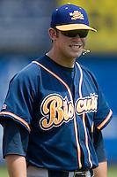 Montgomery third baseman Evan Longoria (6) at Five County Stadium in Zebulon, NC, Wednesday, July 18, 2007.