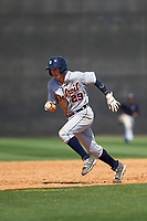 Detroit Tigers Will Maddox (29) running the bases during a minor league Spring Training game against the New York Yankees on March 22, 2017 at the Yankees Complex in Tampa, Florida.  (Mike Janes/Four Seam Images)