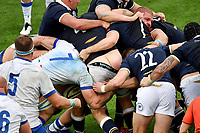 Braam Steyn of Italy, Scott Cummings, James Lang of Scotland and Simone Ferrari of Italy fight in a ruck during the rugby Autumn Nations Cup's match between Italy and Scotland at Stadio Artemio Franchi on November 14, 2020 in Florence, Italy. Photo Andrea Staccioli / Insidefoto