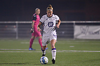 Laura Deloose (14) of Anderlecht during a female soccer game between  Racing Genk Ladies and Royal Sporting Club Anderlecht , a delayed game from the 1st  matchday of the 2021-2022 season of the Belgian Scooore Womens Super League , tuesday 28 September 2021  in Genk , Belgium . PHOTO SPORTPIX | JILL DELSAUX
