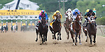 May 18, 2013, Oxbow (#6), Gary Stevens up, wins the 138th Preakness Stakes at Pimlico Race Course in Baltimore, MD. Start of the race: from left, Itsmyluckyday, Departing, Will Take Charge, Goldencents, Oxbow.  (Joan Fairman Kanes/Eclipse Sportswire)