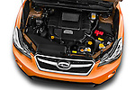 Car Stock 2015 Subaru XV-Crosstrek Premium 5 Door SUV Engine  high angle detail view