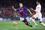UEFA Champions League 2018/2019.<br /> Quarter-finals 2nd leg.<br /> FC Barcelona vs Manchester United: 3-0.<br /> Arthur vs Jesse Lingard.