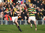 Tony Kelly of Ballyea in action against David Noonan of Glen Rovers during their Munster Club hurling final at Thurles. Photograph by John Kelly.