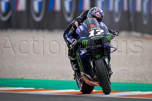 13th November 2020, Circuit Ricardo Tormo, Valencia, Spain;  MotoGP, Grand Prix of Valencia, free practise sessions;  12 Maverick Vinales ESP