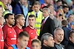 Wales v Serbia FIFA 2014 World Cup Qualifying match - Cardiff - 100913 <br /> Gareth Bale on the bench for Wales in the game against Serbia at the Cardiff City stadium tonight.