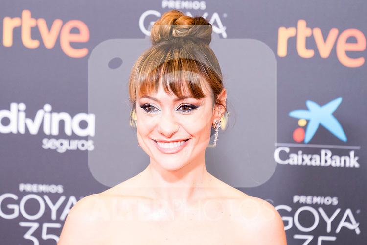 Natalia Verbeke attends the red carpet previous to Goya Awards 2021 Gala in Malaga . March 06, 2021. (Alterphotos/Francis González)