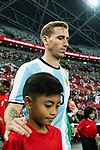 Lucas Biglia of Argentina getting into the field during the International Test match between Argentina and Singapore at National Stadium on June 13, 2017 in Singapore. Photo by Marcio Rodrigo Machado / Power Sport Images