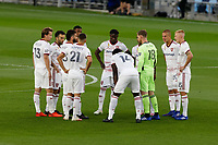 ST PAUL, MN - SEPTEMBER 06: Real Salt Lake huddle before a game between Real Salt Lake and Minnesota United FC at Allianz Field on September 06, 2020 in St Paul, Minnesota.