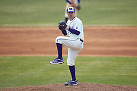High Point Panthers pitcher Reid Viar (33) in action against the Bryant Bulldogs at Williard Stadium on February 21, 2021 in  Winston-Salem, North Carolina. The Panthers defeated the Bulldogs 3-2. (Brian Westerholt/Four Seam Images)