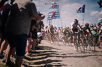 Chris Froome (GBR/SKY) on pavé sector #<br /> <br /> Stage 9: Arras Citadelle > Roubaix (154km)<br /> <br /> 105th Tour de France 2018<br /> ©kramon