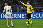 14.02.2020, Signal Iduna Park, Dortmund, GER, 1. BL, Borussia Dortmund vs Eintracht Frankfurt, DFL regulations prohibit any use of photographs as image sequences and/or quasi-video<br /> <br /> im Bild / picture shows / Lukasz Piszczek (#26, Borussia Dortmund) jubelt nach seinem Tor zum 1:0<br /> <br /> Foto © nordphoto/Mauelshagen