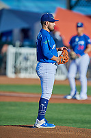 Ogden Raptors starting pitcher Antonio Hernandez (27) looks to the plate against the Orem Owlz at Lindquist Field on September 3, 2019 in Ogden, Utah. The Raptors defeated the Owlz 12-0. (Stephen Smith/Four Seam Images)