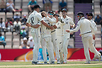 New Zealand celebrate the wicket of Ravindra Jadeja, India off Neil Wagner, New Zealand during India vs New Zealand, ICC World Test Championship Final Cricket at The Hampshire Bowl on 23rd June 2021
