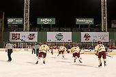 Connor Moore (BC - 7), David Cotton (BC - 17), Jesper Mattila (BC - 8), JD Dudek (BC - 15), Julius Mattila (BC - 26) - The Boston College Eagles defeated the Providence College Friars 3-1 (EN) on Sunday, January 8, 2017, at Fenway Park in Boston, Massachusetts.
