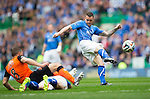 St Johnstone v Dundee United....17.05.14   William Hill Scottish Cup Final<br /> James Dunne's effort is well saved by Radoslaw Cierzniak<br /> Picture by Graeme Hart.<br /> Copyright Perthshire Picture Agency<br /> Tel: 01738 623350  Mobile: 07990 594431