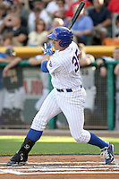 Bryan LaHair #35 of the Iowa Cubs plays for the Pacific Coast League All-Stars in the annual Triple-A All-Star Game against the International League All-Stars at Spring Mobile Ballpark on July 13, 2011  in Salt Lake City, Utah. The International League won the game, 3-0. Bill Mitchell/Four Seam Images.