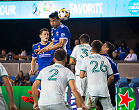 SAN JOSE, CA - SEPTEMBER 4: Oswaldo Alanis during a game between Colorado Rapids and San Jose Earthquakes at PayPal Park on September 4, 2021 in San Jose, California.
