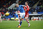 St Johnstone v Aberdeen...06.02.16   SPFL   McDiarmid Park, Perth<br /> Steven MacLean and Kenny McLean<br /> Picture by Graeme Hart.<br /> Copyright Perthshire Picture Agency<br /> Tel: 01738 623350  Mobile: 07990 594431