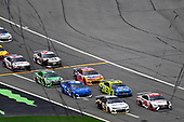 #62: Brendan Gaughan, Rick Ware Racing, Chevrolet Camaro Beard Oil Distributing / South Point Hotel & Casino and #20: Erik Jones, Joe Gibbs Racing, Toyota Camry Sport Clips
