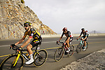 Christoph Pfingsten (GER) Jumbo-Visma, Thomas De Gendt (BEL) Lotto Soudal and Jack Bauer (NZL) Team BikeExchange climb the final 4km of Jais Mountain during Stage 5 of the 2021 UAE Tour running 170km from Fujairah to Jebel Jais, Ras Al Khaimah, UAE. 25th February 2021.  <br /> Picture: Eoin Clarke   Cyclefile<br /> <br /> All photos usage must carry mandatory copyright credit (© Cyclefile   Eoin Clarke)