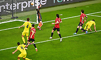 26th May 2021; STADION GDANSK  GDANSK, POLAND; UEFA EUROPA LEAGUE FINAL, Villarreal CF versus Manchester United:  GERARD MORENO scores the games 1st goal for 1-0 in the 29th minute