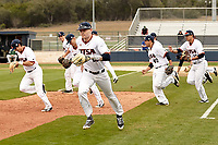 SAN ANTONIO, TX - FEBRUARY 16, 2018: The University of Texas at San Antonio Roadrunners fall to the University of San Francisco Dons 11-2 at Roadrunner Field. (Photo by Jeff Huehn)