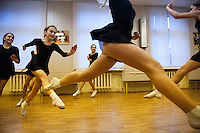 RUSSIA, Moscow, 11.2010. ©  Sergey Kozmin/EST&OST.The Moscow Girls Cadet Boarding School..At the end of each school year each class must organize a performance to show what their pupils have learned. If the performance is not impressive the teacher can lose her job at school.