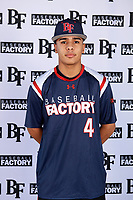 Harold Coll (4) of Cathedral High School in Hyde Park, Massachusettes during the Baseball Factory All-America Pre-Season Tournament, powered by Under Armour, on January 12, 2018 at Sloan Park Complex in Mesa, Arizona.  (Mike Janes/Four Seam Images)