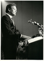 Jean Chretien le 27 avril 1984<br /> <br /> <br /> PHOTO :  Agence Quebec Presse